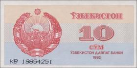 Usbekistan / Uzbekistan P.64 10 Sum 1992 (1)