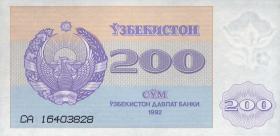 Usbekistan / Uzbekistan P.68 200 Sum 1992 (1)
