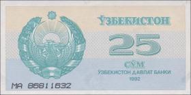 Usbekistan / Uzbekistan P.65 25 Sum 1992 (1)