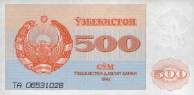 Usbekistan / Uzbekistan P.69 500 Sum 1992 (1)