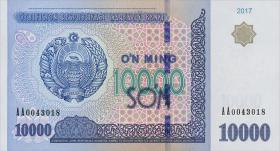 Usbekistan / Uzbekistan P.neu 10000 Sum 2017 (1)