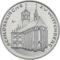 DDR-Medaille Schloßkirche Wittenberg V-008