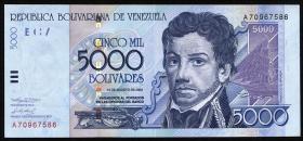 Venezuela P.84b 5000 Bolivares 2002 (1)