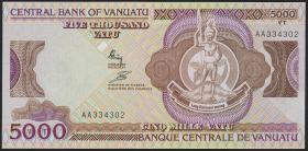 Vanuatu P.04 5000 Vatu (1989) (1) schwarze Unterschriften