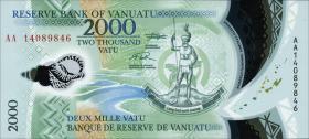 Vanuatu P.17 2000 Vatu (2014) Polymer