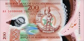 Vanuatu P.12 200 Vatu (2014) Polymer
