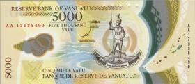 Vanuatu P:neu 5000 Vatu (20)17 (1) Polymer