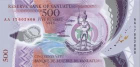 Vanuatu 500 Vatu (20)17 (1) Polymer