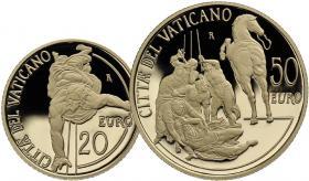Vatikan 20 + 50 Euro 2012 Paulinische Kapelle