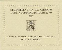 Vatikan 2 Euro 2017 Erscheinung der Fatima