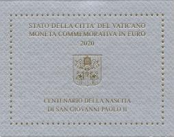 Vatikan 2 Euro 2020 100. Geburtsjahr Hl. Joh. Paul II.