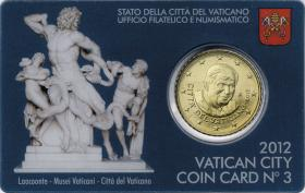 Vatikan 50 Cents 2012 Coincard No. 3