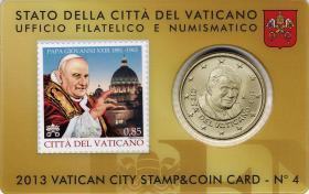 Vatikan 50 Cents 2013 Stamp&Coincard No. 4