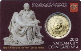 Vatikan 50 Cents 2013 Coincard No. 4
