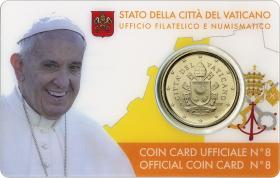 Vatikan 50 Cents 2017 Coincard No. 8