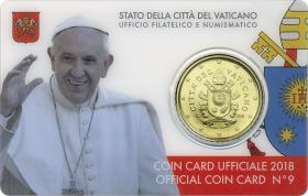 Vatikan 50 Cents 2018 Coincard No.9