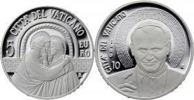 Vatikan 5 + 10 Euro 2015 Silbergedenkmünzen-Set