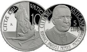 Vatikan 5 + 10 Euro 2012 Paul I./ Weltkrankentag