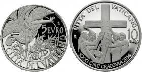 Vatikan 5 + 10 Euro 2016 Silbergedenkmünzen-Set