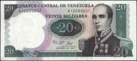 Venezuela P.71 20 Bolivares 1987 (1)