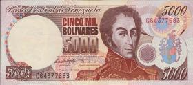 Venezuela P.78b 5000 Bolivares 1998 (2)