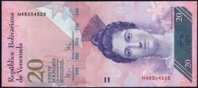 Venezuela P.91b 20 Bolivares 2009 (1)