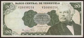 Venezuela P.64 20 Bolivares 1984 (2-)