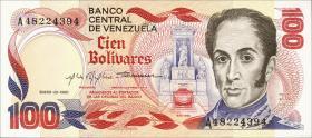 Venezuela P.59 100 Bolivares 1980 (1)