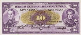 Venezuela P.62 10 Bolivares 1988 (1)