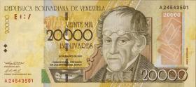 Venezuela P.86a 20000 Bolivares 2001 (1)