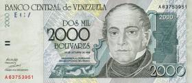 Venezuela P.80 2000 Bolivares 1998 (1)
