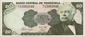 Venezuela P.64A 20 Bolivares 1987 (1)