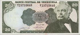 Venezuela P.63c 20 Bolivares 1990 (1)
