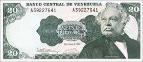 Venezuela P.63d 20 Bolivares 1992 (1)
