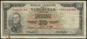 Venezuela P.47d 50 Bolivares 1967 (4)