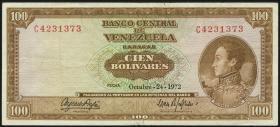 Venezuela P.48i 100 Bolivares 1972 (3)