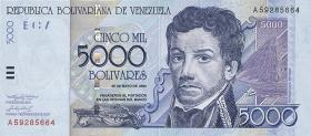 Venezuela P.84a 5000 Bolivares 2000 (1)