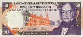 Venezuela P.65a 50 Bolivares 1985 (1)