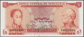 Venezuela P.50h 5 Bolivares 1974 (1)