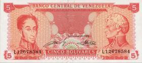 Venezuela P.70b 5 Bolivares 1989 (1)
