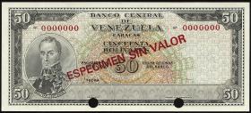 Venezuela P.47s 50 Bolivares (1964-1972) Specimen (1)
