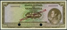 Venezuela P.48s 100 Bolivares (1969-73) Specimen (1)