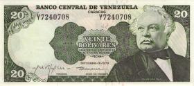 Venezuela P.53c 20 Bolivares 1978 (1)