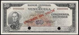 Venezuela P.44s 50 Bolivares (1961-1963) Specimen (1)