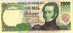 Venezuela P.74a 2000 Bolivares 1994 (1)