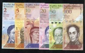 Venezuela P.88 - 93  2-100 Bolivares 2007 - 2015 (1) Serie 1