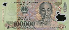 Vietnam / Viet Nam P.122a 100.000 Dong (2004) Polymer (1)