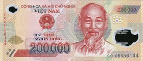 Vietnam / Viet Nam P.123a 200.000 Dong (2006) Polymer (1)