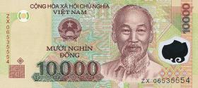 Vietnam / Viet Nam P.119a 10000 Dong (2006) Polymer