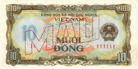Vietnam / Viet Nam P.086s 10 Dong 1980 Specimen (1)